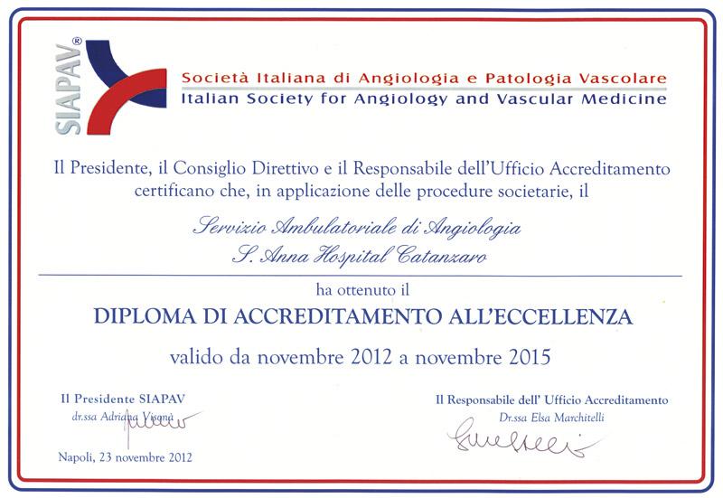 Attestati Ed Accrediti Elia Diaco Angiologia E Medicina Vascolare