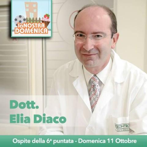 Domenico 11 ottobre – Canale LaC – Il dott. Elia Diaco ospite in studio