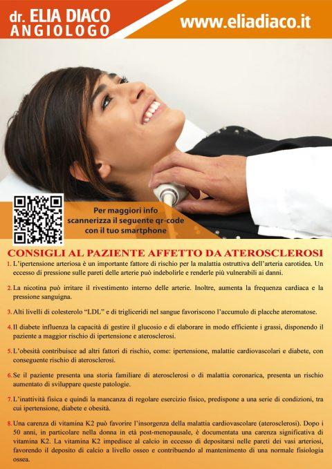 Consigli al Paziente Affetto da Aterosclerosi