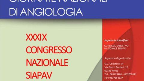 Giornate di Angiologia – XXXIX Congresso Nazionale SIAPAV