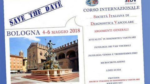 Corso internazionale SIDV 2018 a Bologna dal 4 al 6 maggio 2018